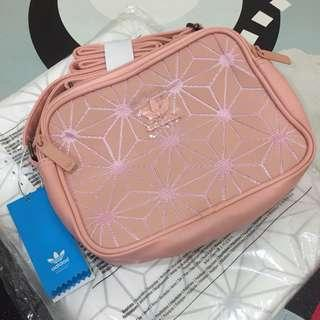 FREE POSTAGE + FREE GIFT!! Adidas 3D Sling Bag | NUDE x PINK (New Colour)