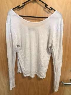 Prettylittlething longsleeve white top uk14