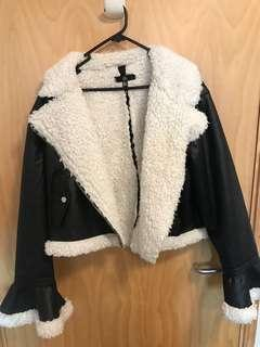 Missguided wool/leather jacket s14