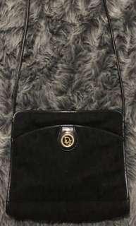 REDUCED! Authentic Vintage Christian Dior Black Canvas Messenger Bag