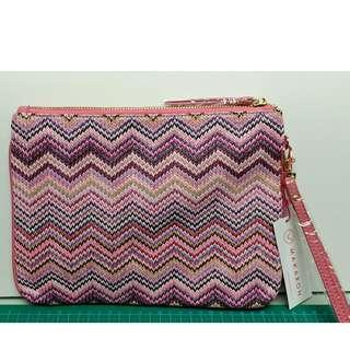 Makaron French Design Fine Woven Fabric Hand Pouch