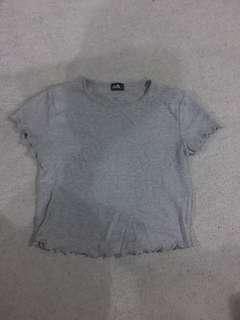 Dotti grey top size M