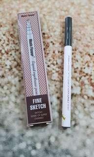 Music flower eyebrow pen
