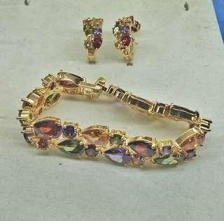 GEMSTONES ( earring & bracelet )