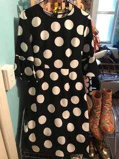 TWO POLKA DOT DRESSES (MARIMEKKO STYLE AND VINTAGE)