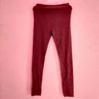 Maroon red leggings