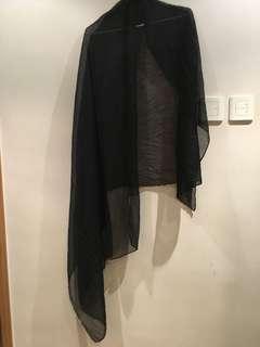 Black scarf wrap