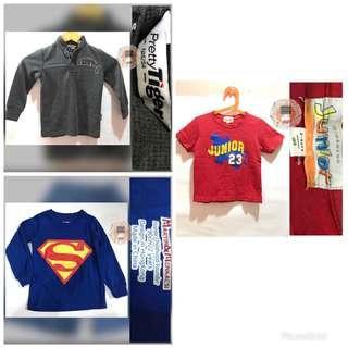 Giordano/Superman/Gray Tops for Boys