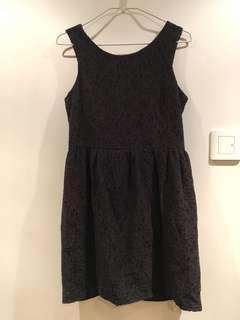 斯文裙 forever21 black lace dress