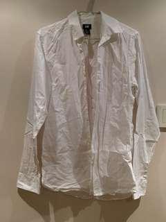 白色恤衫 H&M