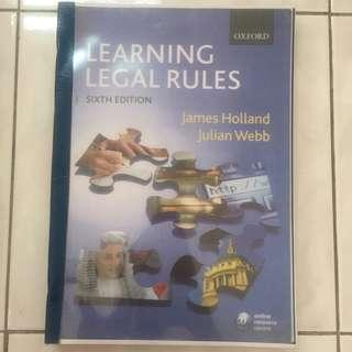 Legal System Method, Learning Legal Rules Textbook, James Holland & Webb