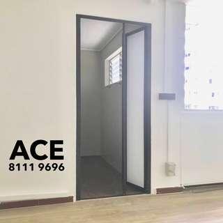 Bifold door for toilet bathroom or storeroom etc