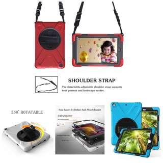 👶👧iPad Mini 1/2/3/4 Kids-friendly 360-rotating Case w Sling