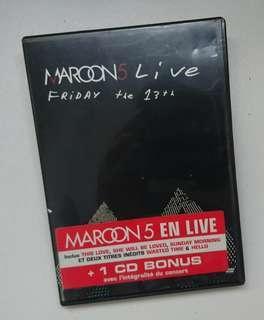 (包郵) Maroon 5 LIVE Friday the 13th DVD+CD