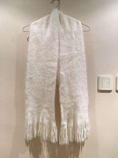 米白色頸巾 scarf wrap