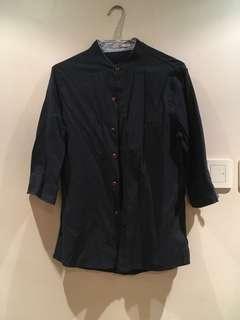 Navy dark blue top