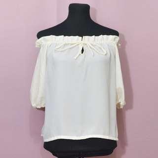 Off-white off-shoulder top