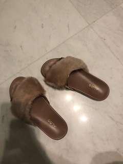 Aldo fur sandals