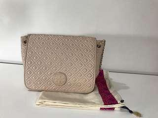 Authentic Tory Burch Fleming Quilted Leather Chain Shoulder Bag and Crossbody