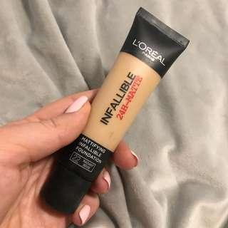Literal infallible matte foundation
