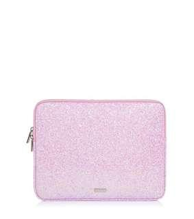 Skinny Dip Ana Glitter Laptop Case - Pink