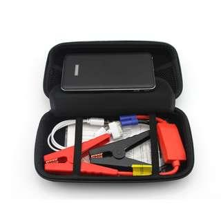 10000mah Emergency car jump starter jumpstart and also Power Bank Battery as Portable Charger for phone