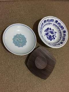 Mini bowls & saucer (take all)