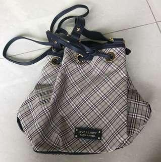 BNWT authentic Burberry Blue Label drawstring bag [Buy from 🇯🇵]