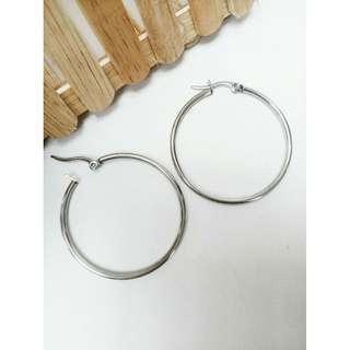 Anting Hoops Silver 4cm