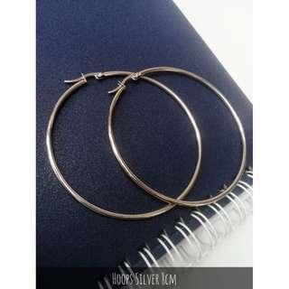 Anting Hoops Silver 8cm