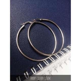 Anting Hoops Silver 5,5cm