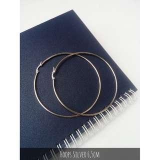 Anting Hoops silver 6,5cm