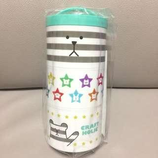 全新! Craftholic食物盒 小型飯盒 奸夫 Tiffany Blue 淺綠色