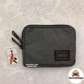 [CHEAPEST INSTOCK] 🔹 Porter Small Coin Pouch/ Wallet — grey