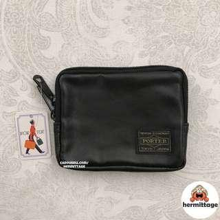 [CHEAPEST INSTOCK] 🔹 Porter Small Coin Pouch/ Wallet — pu leather black