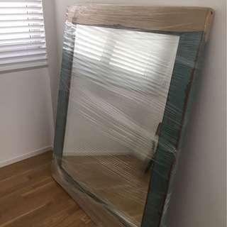 Vintage Huge Wooden Mirror - Height 1.4m & Width 1.2m