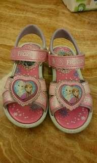 女童涼鞋,冰雪奇緣,frozen, 尺寸17.0