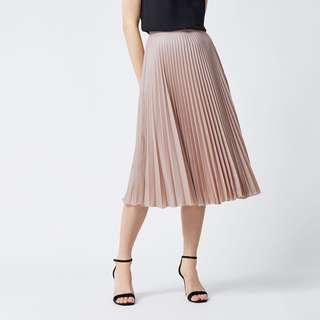 pleated skirt dusty pink