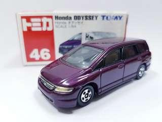 SALES!!! JAPAN TOMY TOMICA HONDA ODYSSEY 1/64 DIECAST CAR discontinued
