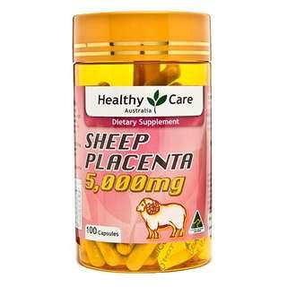 Healthy Care Sheep Placenta 5000mg 100 capsules