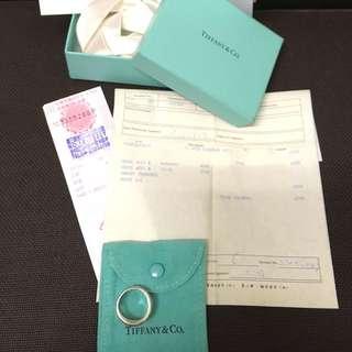 Tiffany 二手真正品三環戒附專櫃購買証明