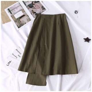 New skirt army green