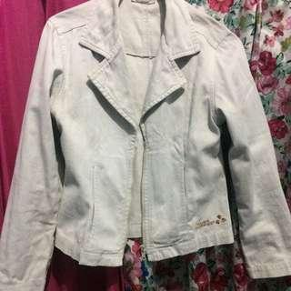 hush puppies jaket jeans broken white