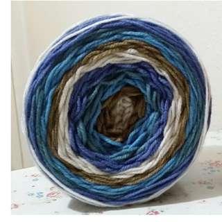 長段染-粗- 100% Acrylic-蛋糕球毛線