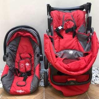 Aprova stroller and Car Seat