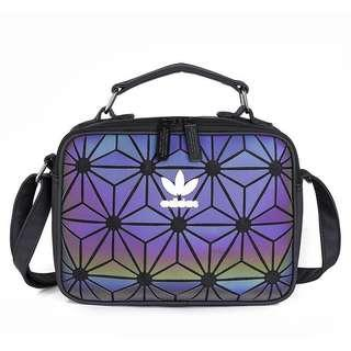 FREE POSTAGE + FREE GIFT!! Adidas 3D Sling Bag | RAINBOW REFLECTED✔️