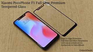 🚚 Xiaomi PocoPhone F1 Full Glue Premium Tempered Glass