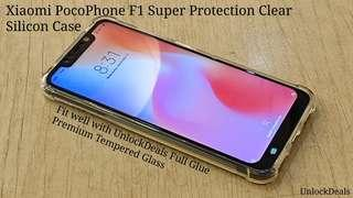 🚚 Xiaomi PocoPhone F1 Super Protection Clear Silicon Case