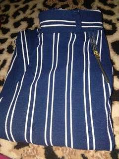Pants stripe navy