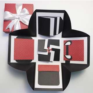 Polka Dot Red and Black Explosion Gift Box